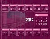 2012 Calendar. Vector Illustration. June. — Stock Vector