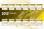2012 Calendar. Vector Illustration. Eps10. — Stockvektor