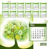 2012 kalender. vektor-illustration. mai. — Stockvektor