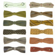 12 vintage bow-ties — Stock Photo