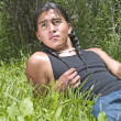 Stock Photo: Modern day Native American teenage boy
