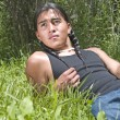 Modern day Native American teenage boy - Stock Photo