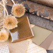 Stock Photo: Earthy brownish interior design plan