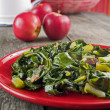 Stock Photo: Collard greens & bacon