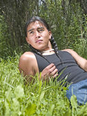 Modern day Native American teenage boy — Stock Photo