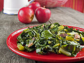 Collard greens & bacon — Stock Photo