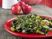 Collard greens & bacon — Stock Photo