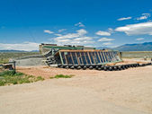 Earthship under construction — Stock Photo