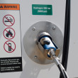 Hydrogen fueling dispenser for vehicles - Stock Photo