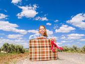 Traveling girl — Stock Photo