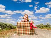 Chica de viaje — Foto de Stock