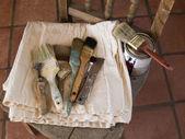 Painter's paintbrushes — Stock Photo