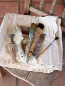 Painter's paintbrushes — Stock Photo