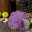 Purple cauliflower - Stock Photo