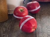 Red organic apples — Stock Photo