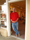 Retail shop owner — Stock Photo