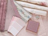 Rosy pink interior design plan — Stock Photo