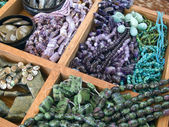 Semi precious gemstone beads — Stock Photo
