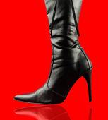 Sexy bota negra — Foto de Stock