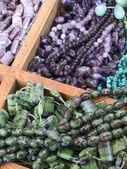 Semi precious gemstone beads — Stock Photo