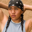 Portrait of a Native American teenage boy — Stockfoto