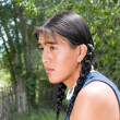 Handsome Native American teenage boy — Stock Photo
