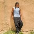 Native American teenage boy — Stockfoto