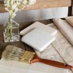 White interior decoration plan — Stock Photo