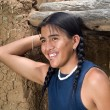 Foto Stock: Handsome Native American teenage boy