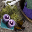 Stock Photo: Aromatherapy and crystal healing
