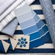 Stock Photo: Blue interior design