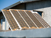 Old solar panel from 1970's — Stock Photo
