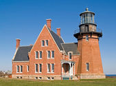 Historic Southeast Lighthouse on Block Island, RI — Stock Photo