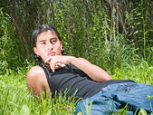 Native American teenage boy — Stock Photo