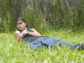 Modern day Native American teenage boy — Stock Photo