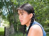 Handsome Native American teenage boy — Stock Photo