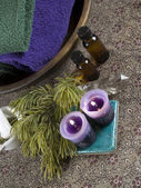 Aromatherapy and crystal healing — Stock Photo