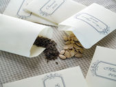 Seeds in packets — Stock Photo