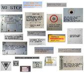 Military aviation warning signs — Stock Photo