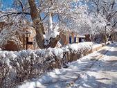 Bent street winter — Stock Photo