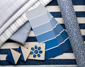 Blue interior design — Stock Photo