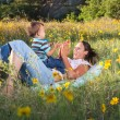 Mother and son playing — Stock Photo #7552742