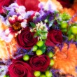 Roses, chrysanthemums & orchids bouquet - Stock Photo
