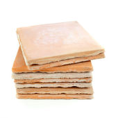 Used saltillo tiles, recycled building materials — Stock Photo