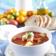 Hearty vegetable soup — Stock Photo