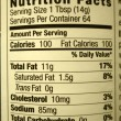 Stock Photo: High fat content food label