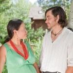 Happy couple expecting a baby — Stock Photo
