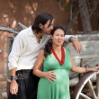 Happy young couple expecting a baby — Stock Photo #7624553