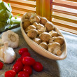 Stock Photo: Crimini mushrooms