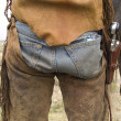 Cowboy butt — Stock Photo